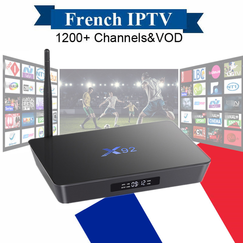 X92 Android IPTV Box Amlogic S912 2G16G with NEO IPTV Subscription French Belgique Arabic Europe Smart TV Box Wireless 4K H.265 x92 android iptv box s912 set top box 700 live arabic iptv europe french iptv subscription 1 year iptv account code