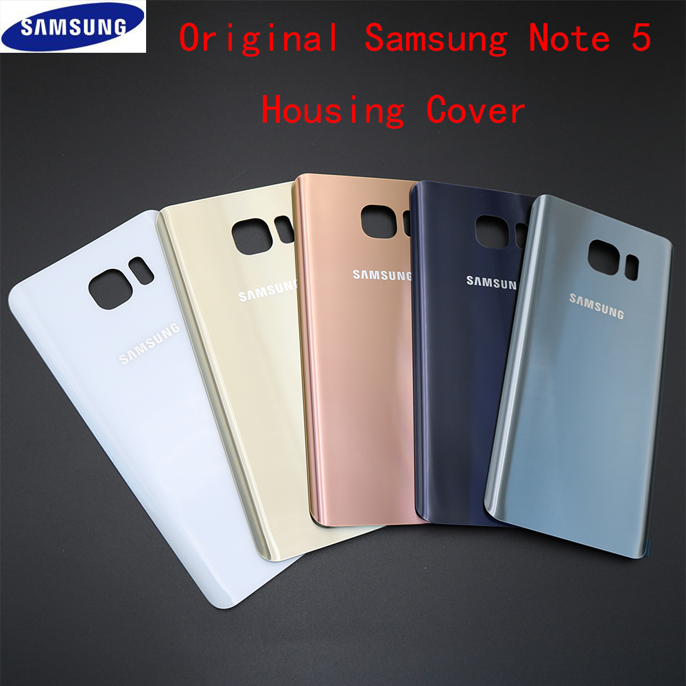 5 Color Original Rear Battery Housing cover Replacement For Samsung Galaxy Note 5 note5 N920 N920F Back Glass Single