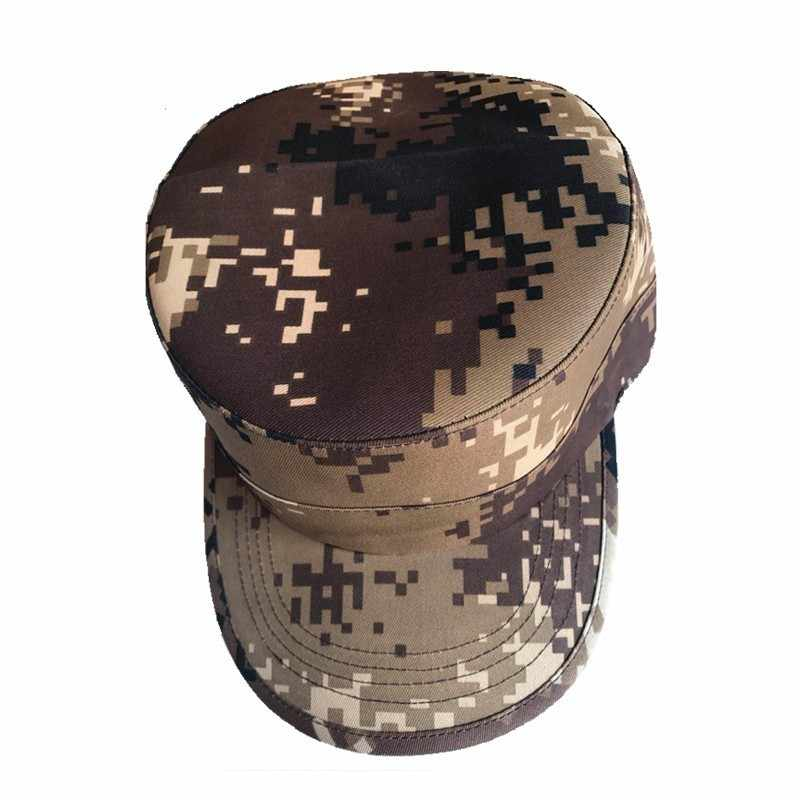 צבאי כובע סטודנטים הסוואה טקטיקות ראש שטוח גברים נשים כללי גודל מתכוונן צבא טחונים Ww2 Softair Militaire גרמנית