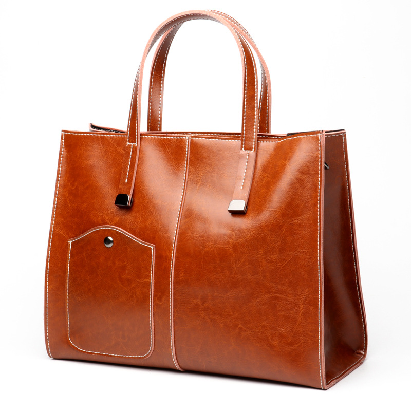 Women bag Oil wax Women's Leather Handbags Luxury Lady Hand Bags With Purse Pocket Women messenger bag Big Tote Sac Bolsos C359 women bag oil wax women s leather handbags luxury lady hand bags with purse pocket women messenger bag big tote sac bolsos mujer