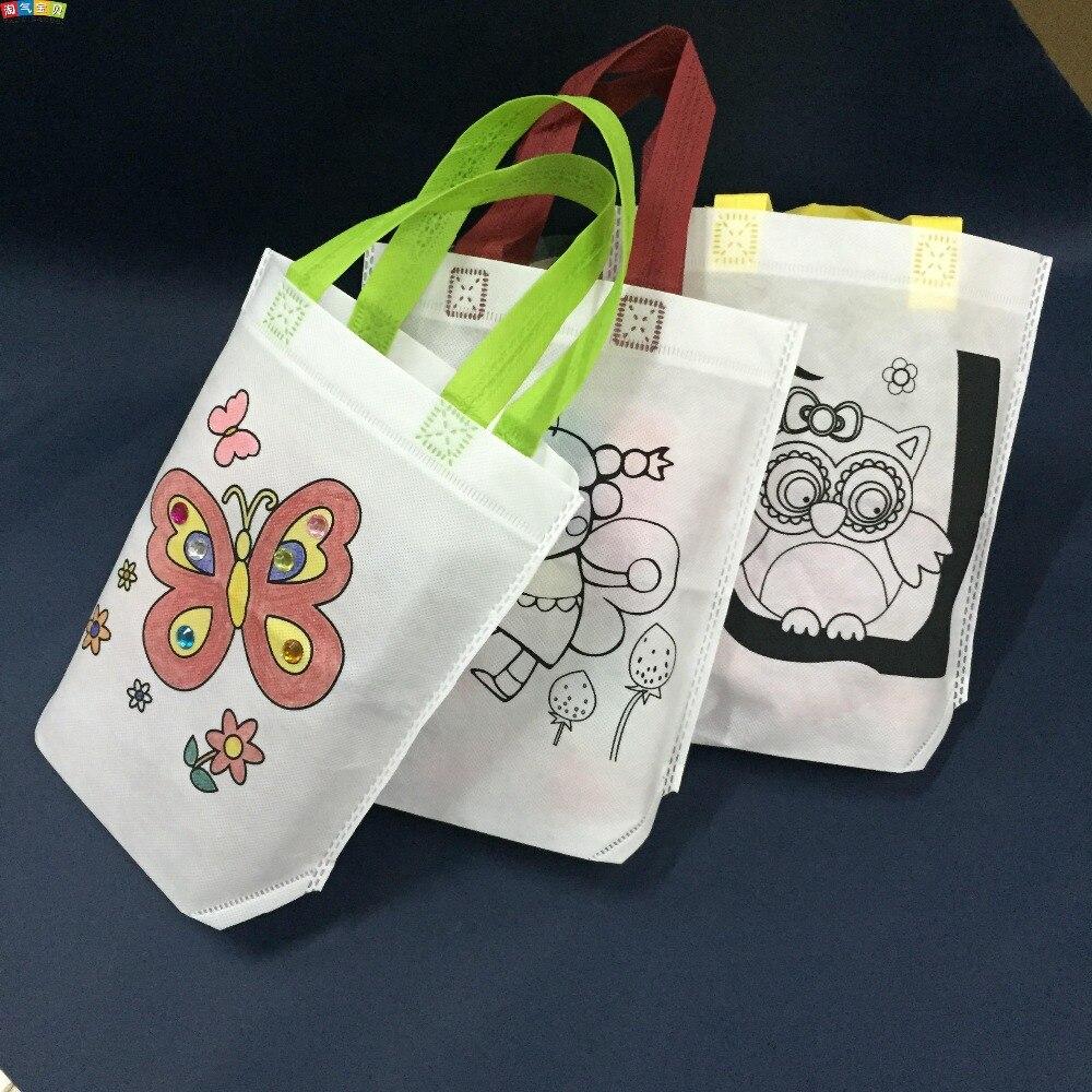 Kreatif Menggambar Mainan Game Mewarnai Pada Eco Bag Dengan Pena Dan
