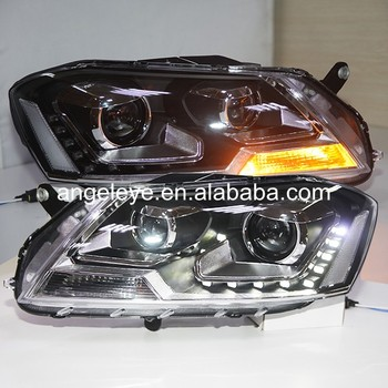 2011-2014 year For Volkswagen Magotan Passat B7 headlights Black Housing LF