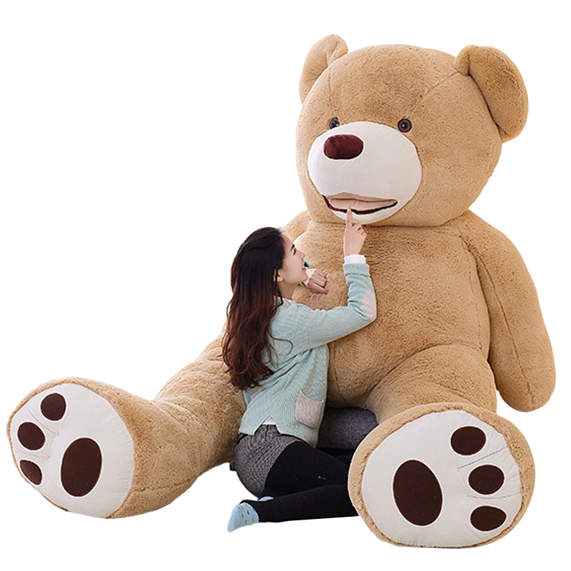 100cm-200cm America Giant Teddy Bear Plush Toys Soft Teddy Bear Skin Popular Birthday & Valentine's Gifts For Girls Kid's Toy