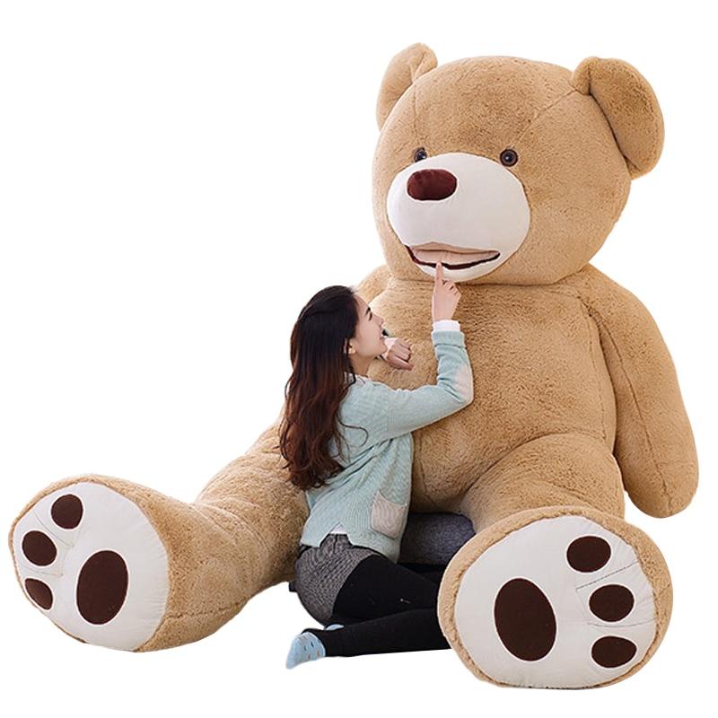 цена на 100cm-200cm America Giant Teddy Bear Plush Toys Soft Teddy Bear Skin Popular Birthday & Valentine's Gifts For Girls Kid's Toy