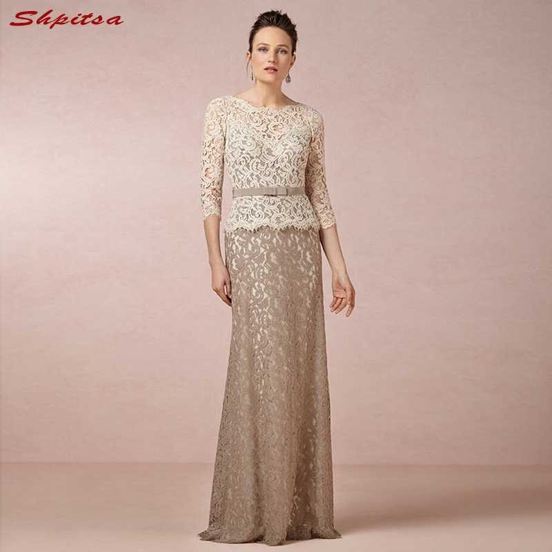 Champagne Mother Of The Bride Dresses For Weddings Lace