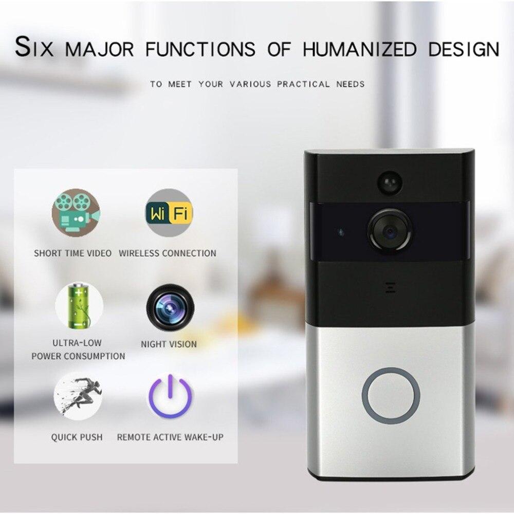 720 P WiFi sonnette bidirectionnelle Audio infrarouge Vision nocturne PIR détection système de sécurité à domicile faible consommation d'énergie