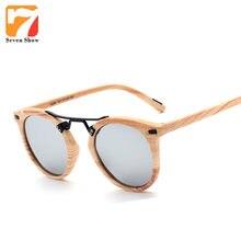 Luxe coloré Imitation bois cat eye lunettes de soleil femmes marque  designer vintage femme lunettes de soleil rétro miroir shade. f5667d137db0