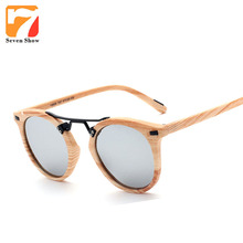 Luxury colorful Imitation wood cat eye sunglasses women brand designer vintage female sun glasses retro mirror shades gafas