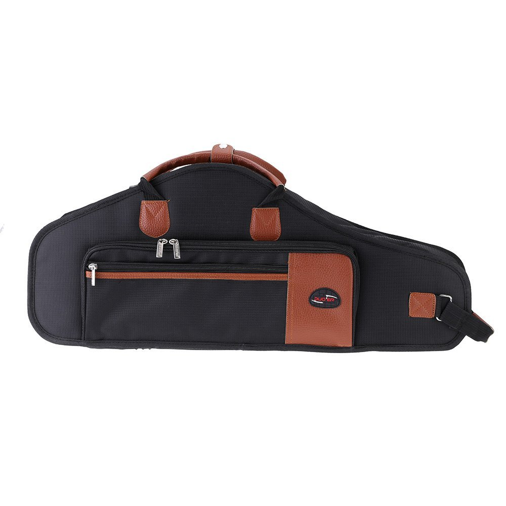 Music-S  1680D Water-resistant Oxford Cloth Bag Cotton Padded Advanced Fabrics Sax Soft Case Adjustable Shoulder Straps Pocket