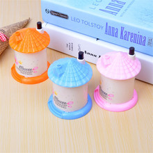 1 PCS Automatic Candy Color Toothpick Box Plastic Portable Holder For House Shaped Random