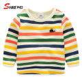 Kids T-shirt Boys 2017 New Spring Casual Colorful Striped T Shirt Kids Long Sleeve Simple Kids Clothes Girls 4623Z