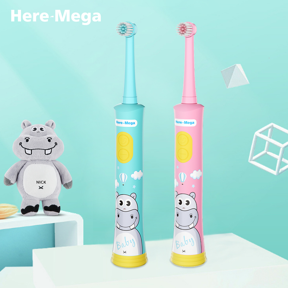 HERE MEGA Music Toothbrush Kids Electric Toothbrush Rotating Waterproof Ultrasonic Automatic Toothbrush USB Rechargeable image