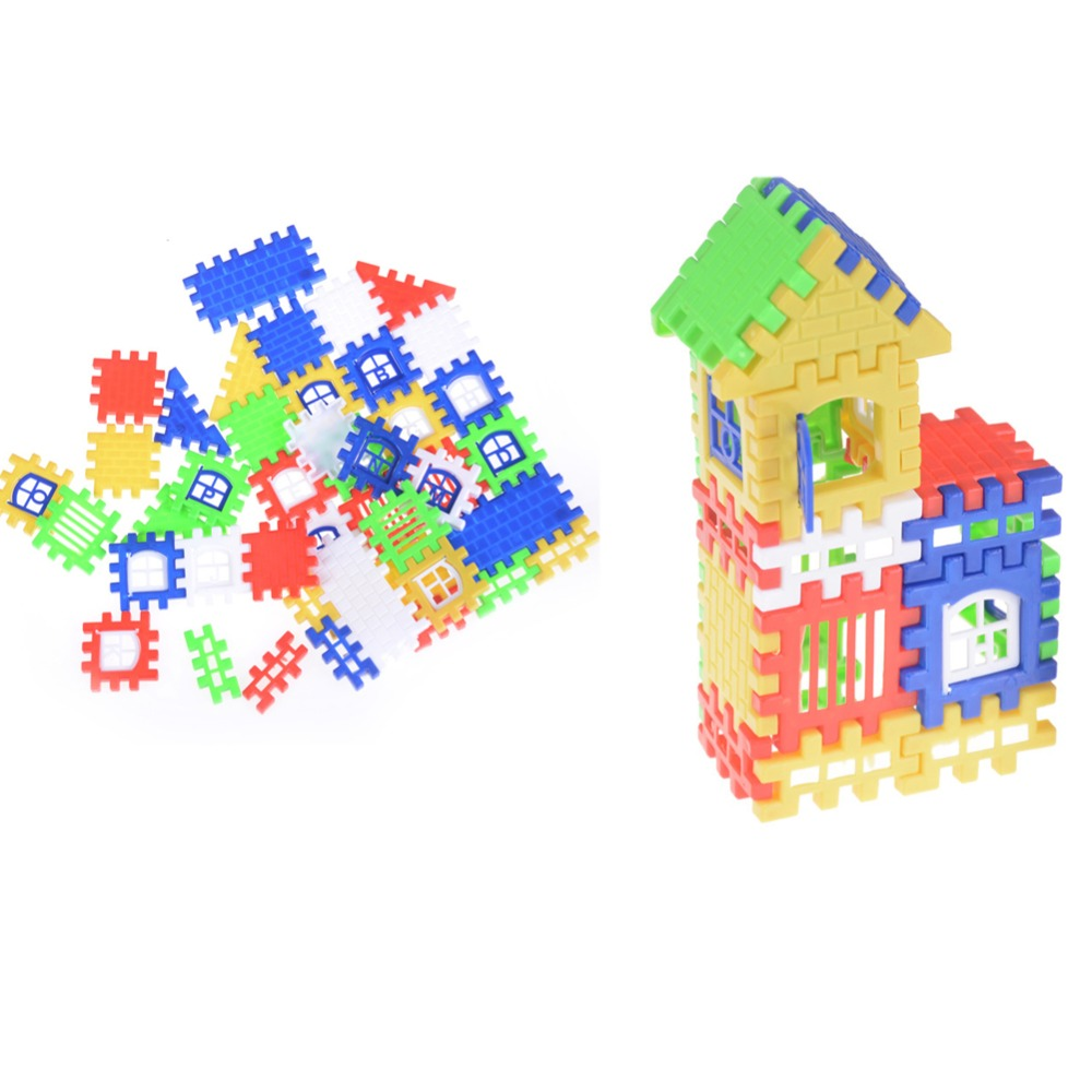 44pcs Baby Kids House Building Blocks Educational Learning Construction Toy TO