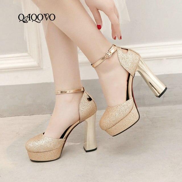 comprar popular 7984c 8a836 Sandalias de verano tacones altos zapatos plataforma mujer moda con  lentejuelas súper fiesta oro plata rojo