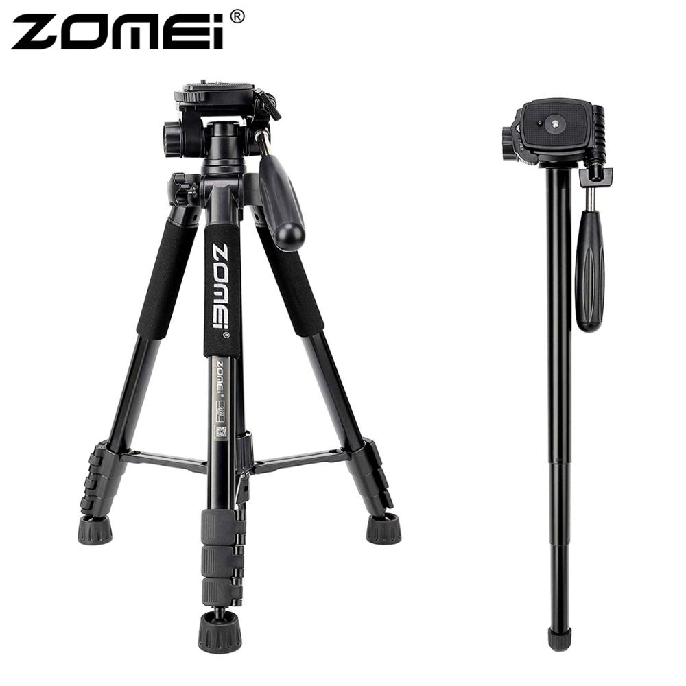 ZOMEI Q222 Camera Tripod Tripode Stative Flexible Photographic Tripod Monopod Travel Stand For Smartphone Camera DSLR Projector