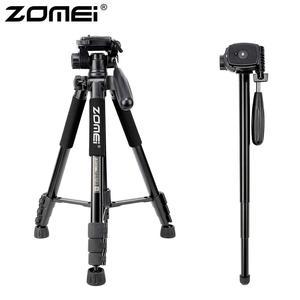 Image 1 - ZOMEI Q222 Camera Tripod Tripode Stative Flexible Photographic Tripod Monopod Travel Stand for Smartphone Camera DSLR Projector