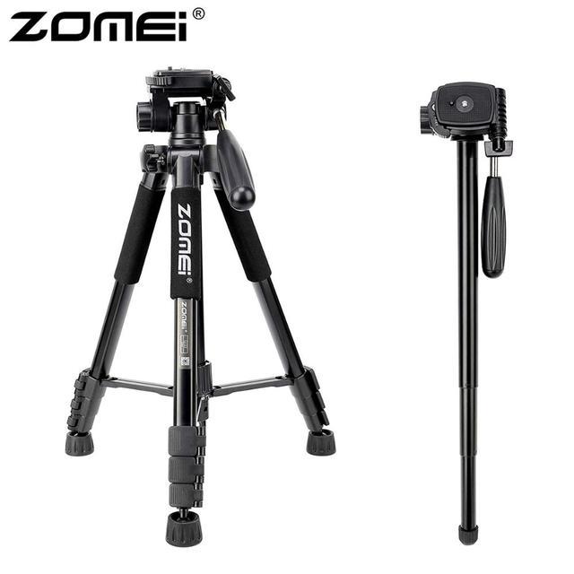 ZOMEI Q222 מצלמה חצובה Tripode Stative גמיש צילום חצובה חדרגל נסיעות Stand עבור Smartphone מצלמה DSLR מקרן