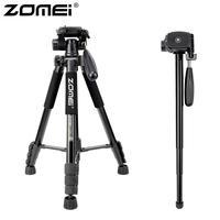 ZOMEI Q222 Camera Tripod Tripode Stative Flexible Photographic Tripod Monopod Travel Stand for Smartphone Camera DSLR Projector