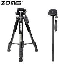 Zomei q222 tripé de câmera tripode stativa flexível tripé fotográfico monopé suporte de viagem para smartphone câmera dslr projetor