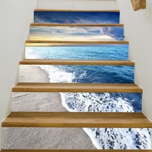 AOOYOU Beach Stair Stickers Wall Decals For Living Room