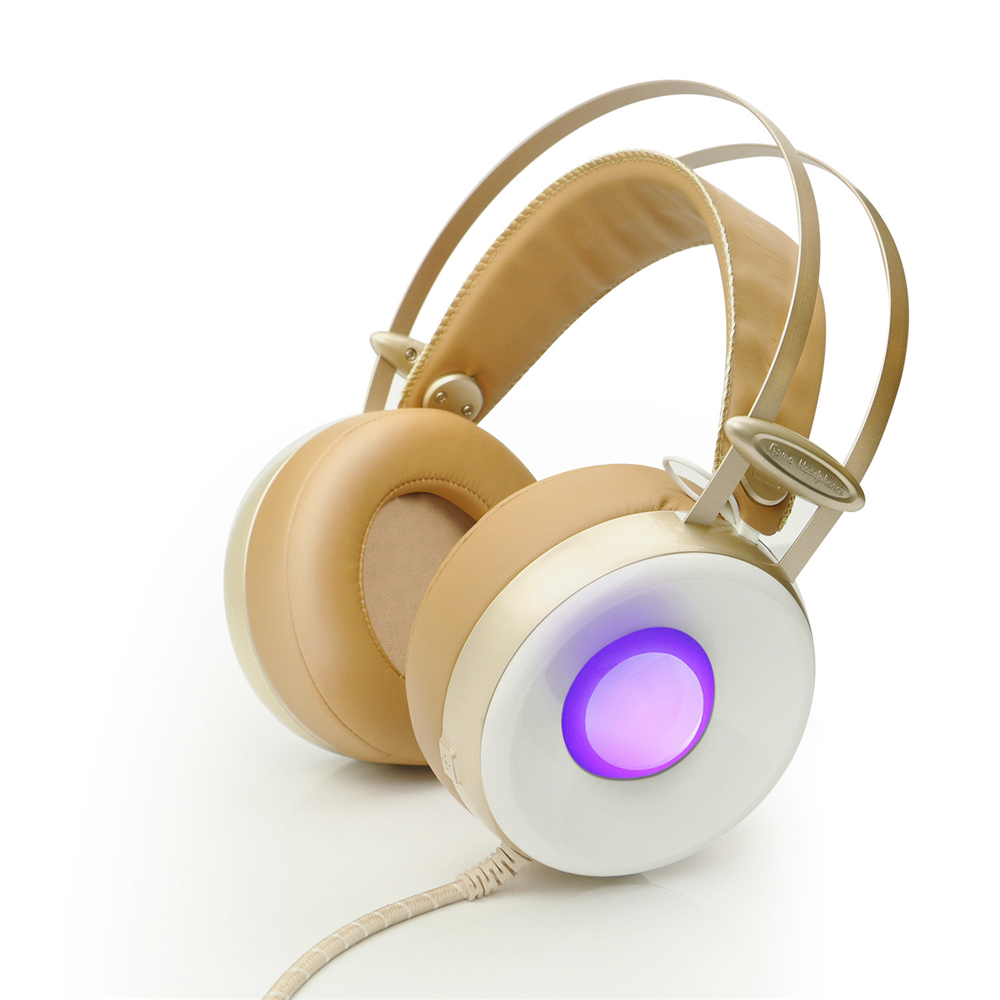 Combaterwing M170 Professional 3.5mm PC Stereo Gaming Headset Over-Ear Headphones Volume Control Breathing LED Lights