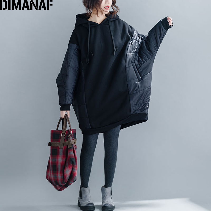 DIMANAF Plus Size Women Hoodies Sweatshirt