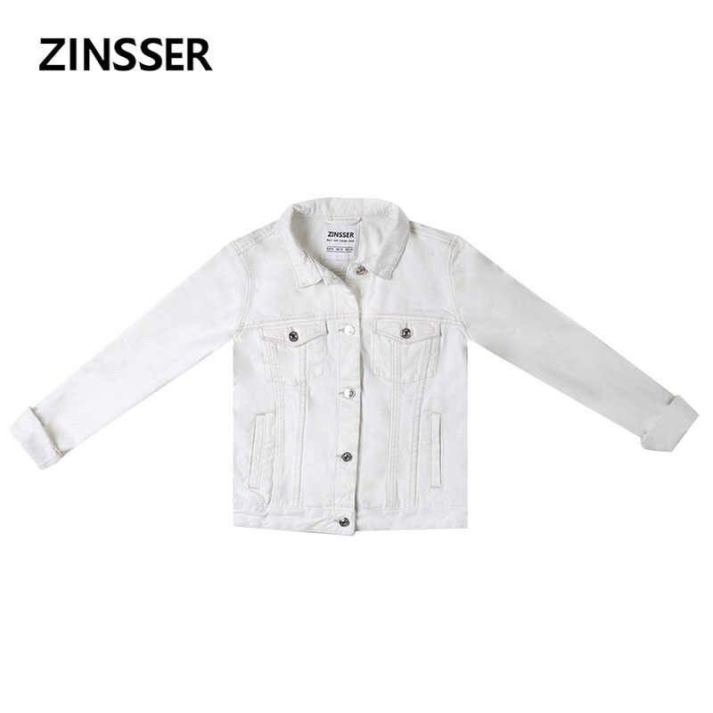 秋冬女性デニム基本ジャケットスリムカジュアル長袖綿 100% 洗浄青、黒、白女性の女性のコート