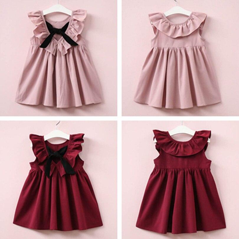 Toddler Baby Kid Girl Casual Mouse Sleeveless Dress Summer Sundress
