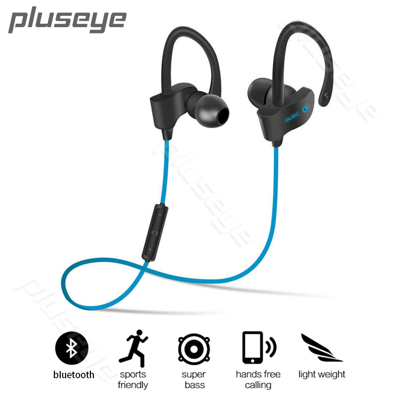 Pluseye Sports In-Ear Wireless Bluetooth Earphone Stereo Earbuds Headset Bass Earphones with Mic for iPhone   xiaomi