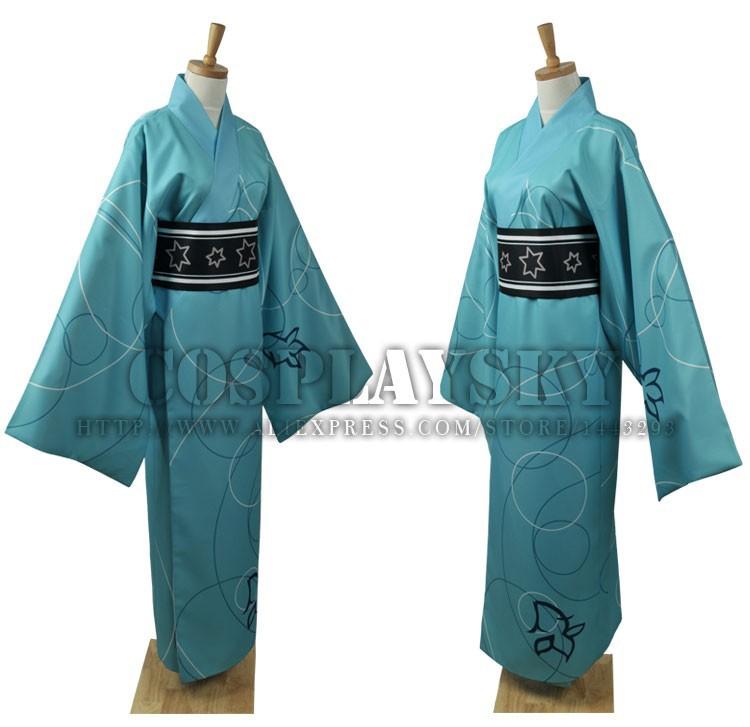 Vocaloid Hatsune Miku Project DIVA Yukata Kimono Kaito Cosplay Costume_02