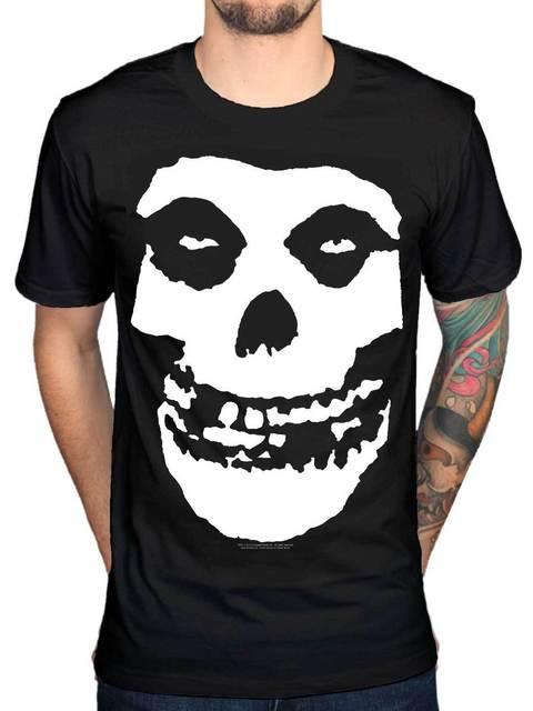 Men'S Skull T Shirt Half...