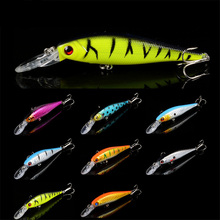 8 colors 10 cm 9.5 g Fishing Lure Minnow Hard Bait with 2 Fishing Hooks Fishing Tackle Lure 3D Eyes