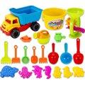 21 Unidades de la Playa de Arena Juguetes Conjunto con Bolsa De Malla para Los Niños-Color Al Azar