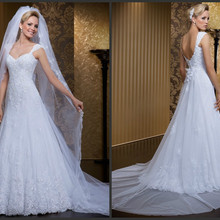 SexeMara White Lace Wedding Dress a-line
