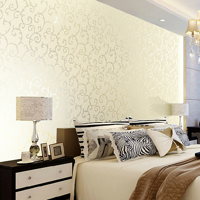 European Luxury Gold Floral Wallpaper PVC Reflective Waterproof Roll 3D Mural Wall Paper Living Room Papel De Parede In Wallpapers From Home