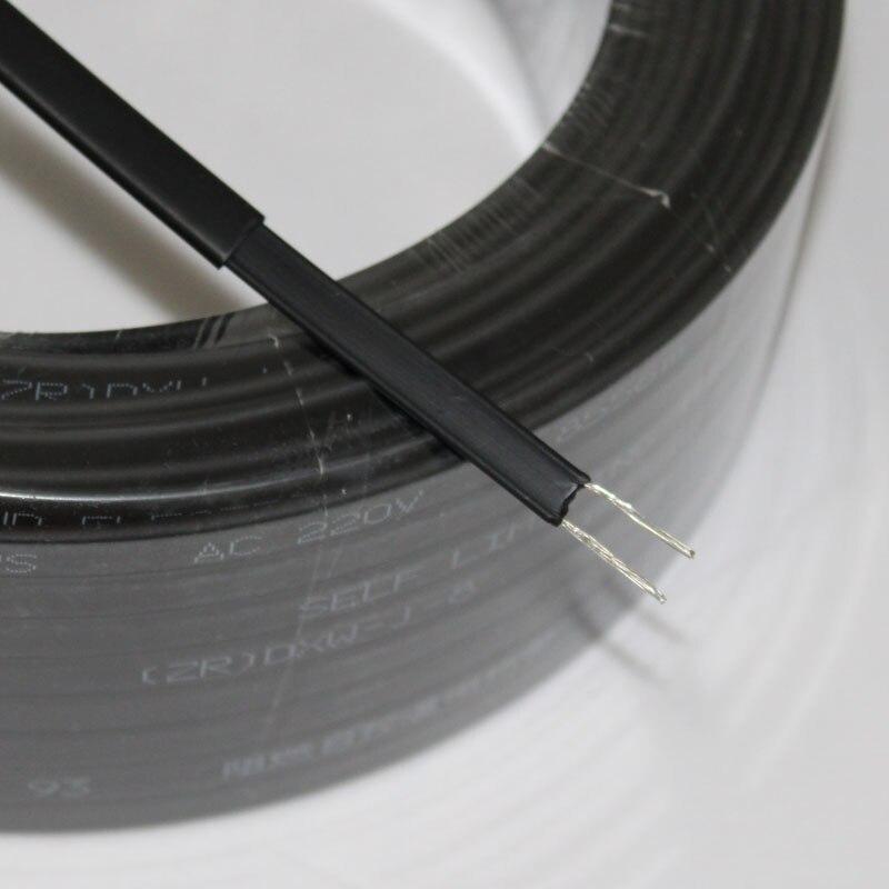 220В Тип нагревательная лента саморегулирующийся водопровод защита крыши откалывающий нагревательный кабель