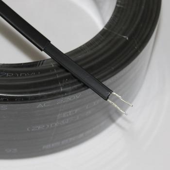 Taśma grzewcza typu 220V samoregulująca fajka wodna ochrona dachu odladzanie kabla grzejnego tanie i dobre opinie AIKELEYISI Copper DXW-8mm Stranded Ogrzewanie Izolowane 20w m 200-240 V