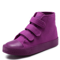 Children Shoes Hot Boys Girls Candy Colors Shoes Kids Casual Sneakers Girls Canvas High Top Shoes
