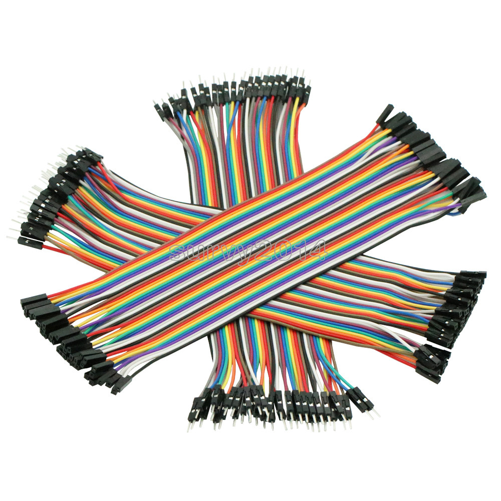 120pcs 20cm Male To Male, Female To Male, And Female To Female Jumper Wire Connector Dupont Cable For Breadboard