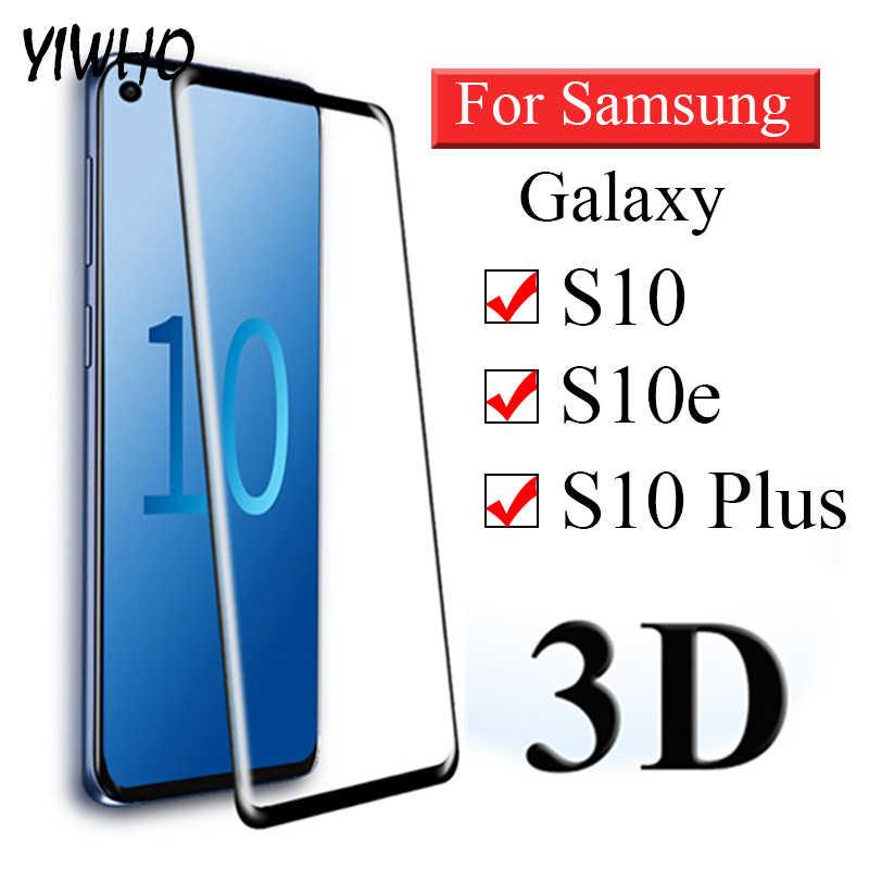 3D منحني الزجاج المقسى على لسامسونج غالاكسي S10 زائد واقية غلاس لسامسونج S9 S10e S 9 10 E لايت واقي للشاشة فيلم