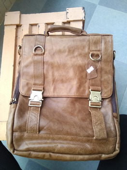 free shipping men backpack real leather backpack size about 40*30cm