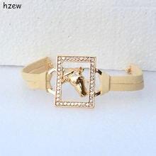 Женские модные браслеты hzew красивые прямоугольные с кристаллами