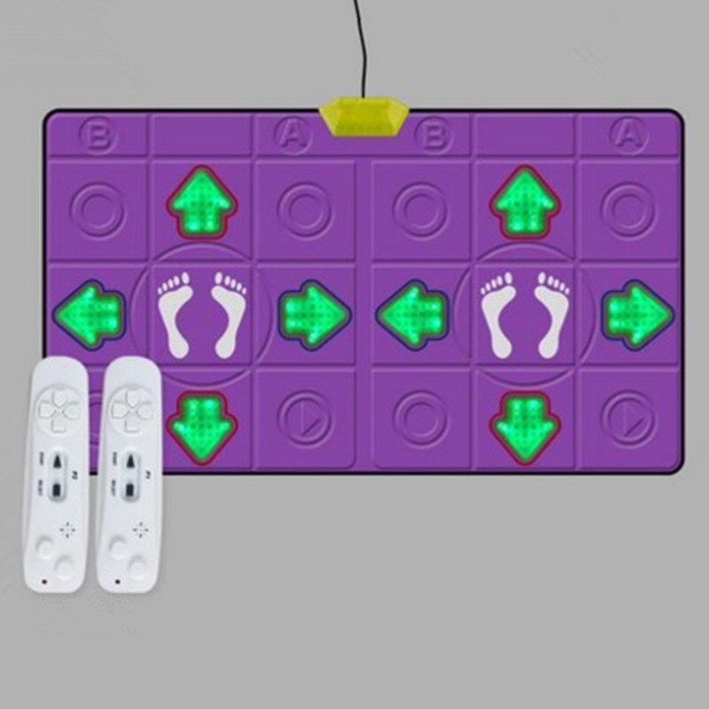2019 Mode 15 Mm Glowing Massage Motion Sensing Decke Tanz Tanzmatte Yoga Pc Tv Spiele Spielen Fitness, Körperliche Sensation 2 Fernbedienung