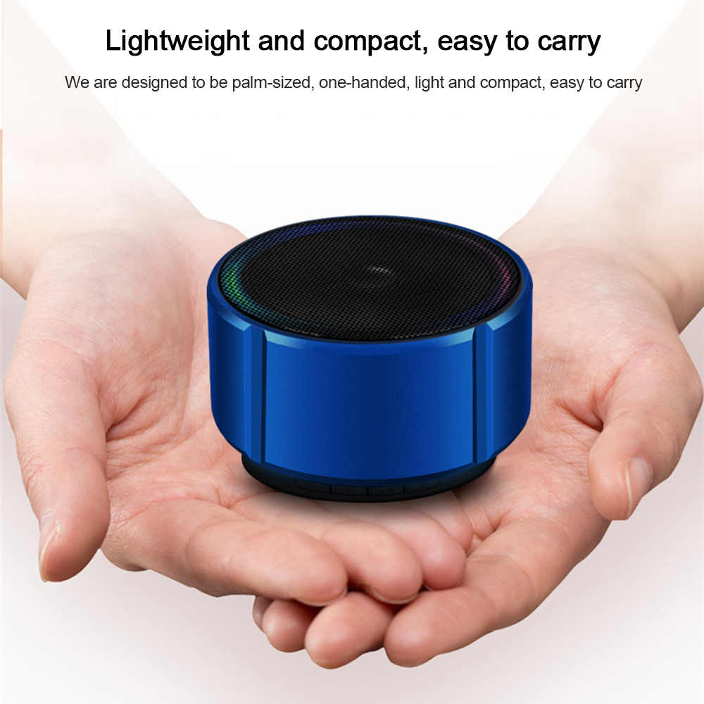 E92 ミニワイヤレス Bluetooth スピーカー金属ポータブル小鋼銃スピーカーサブウーファー USB FM ラジオ音楽プレーヤー