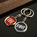 1pcs Car Logo Zinc Alloy Keyring Keychain Emblem for Fiat Key Ring Chain Key Holder