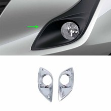 цена на Car Accessories Exterior Decoration ABS Chrome Front Fog Lamp Light Cover Trims For Toyota Vios/Yaris Sedan 2019 Car-styling