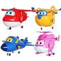 4pcs/set Super Wings PVC Slide Plane Toys Boys Birthday Gift Brinquedos
