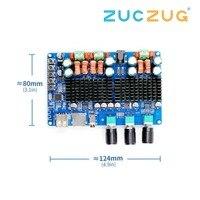 DC 12V 24V TPA3116 50W + 50W + 100W Bluetooth USB TF decoding 2.1 channel digital power amplifier board support MP3 FLAC C5 003