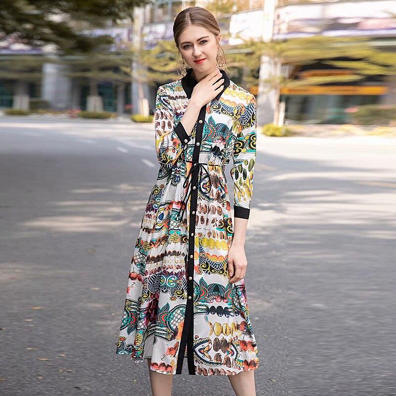 Goodlishowsi Vacances Lacets Robe Printemps D'été 4 Fruit Pour 3 Impression Élégant Femme Robes À Manches 5AjL4R