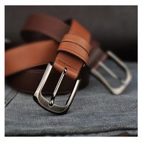Strap Male Genuine Leather Pin Buckle Cowhide Belt Tidal Current Male All Match Commercial Sb S